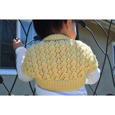 Easy and Lacy Baby Bolero (Shrug) Knitting pattern by Christy Hills   Knitting Patterns   LoveKnitting