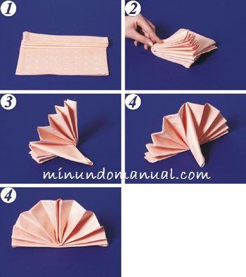 Como doblar una servilleta de tela   Mimundomanual