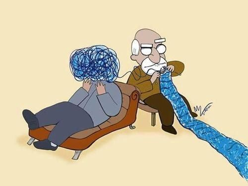 Psychoanalysis... What a great way to illustrate!