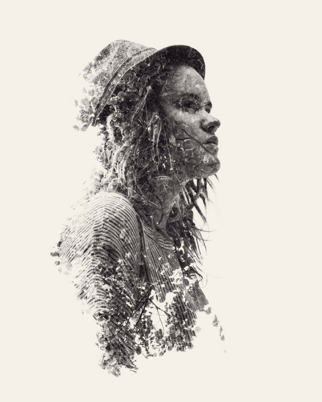 ♥ We Are Nature: New Multiple Exposure Portraits by Christoffer Relander
