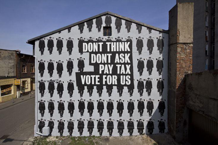 Peter Fuss  -  Dont think. Katowice Street Art Festival 2013,  Katowice, Poland.