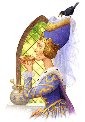 Queen-eating-bread-and-honey.png (293×423)