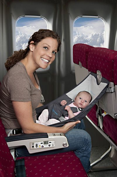 Baby hammock for flights - I'm up for anything that makes flights easier with babies / kids!