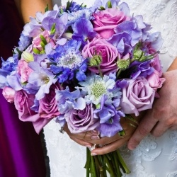 purples & blues instead....in case you weren't sure of what bouquet style you wanted