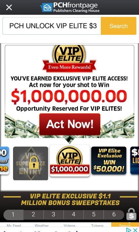 I jcg claim pch vip elite $1,000,000 00 | VIP ELITE in 2019 | Enter