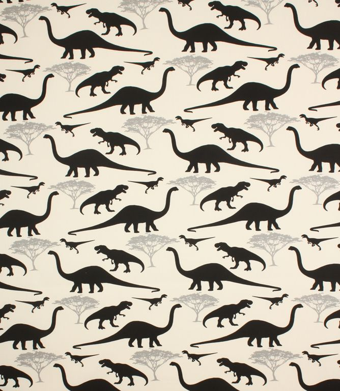 Dinosaur fabric!   http://www.justfabrics.co.uk/curtain-fabric-upholstery/black-dinosaurs-fabric/