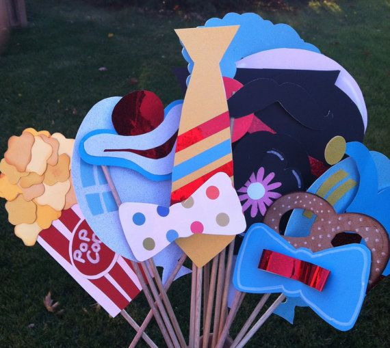 Photo booth props circus circus 17 lg pcs by flutterbugfrenzy