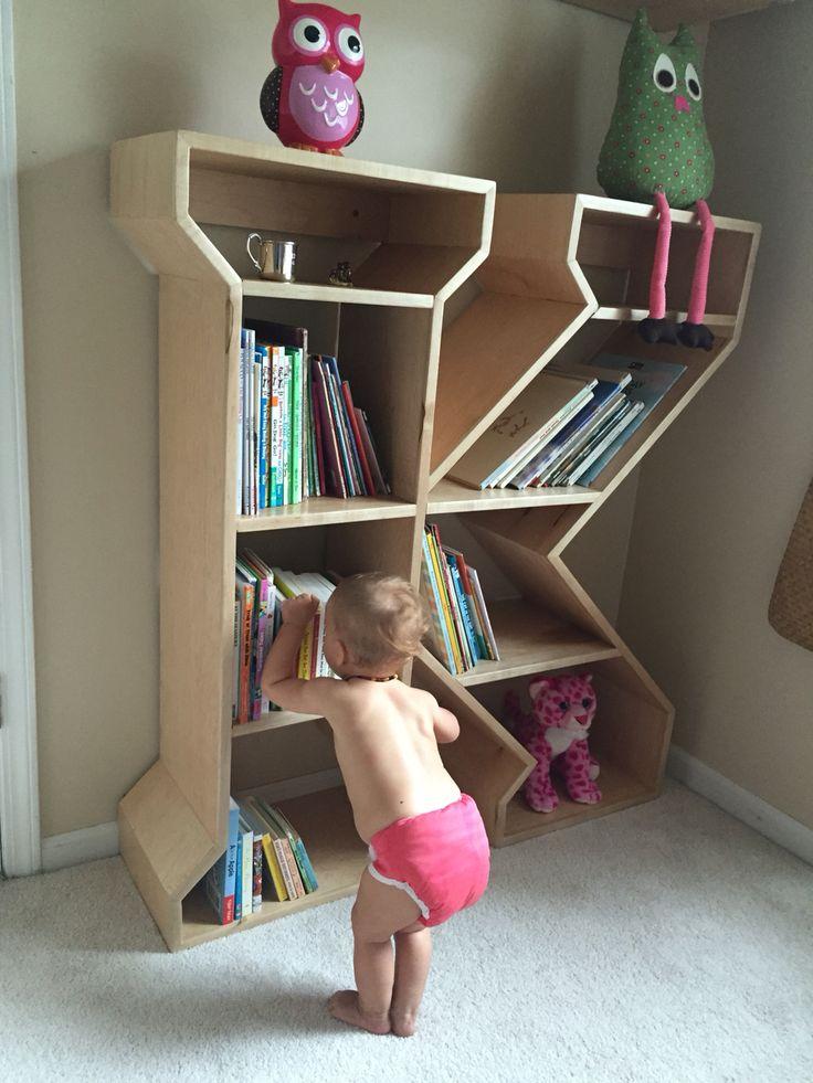 Letter K book shelf made for Kailyn