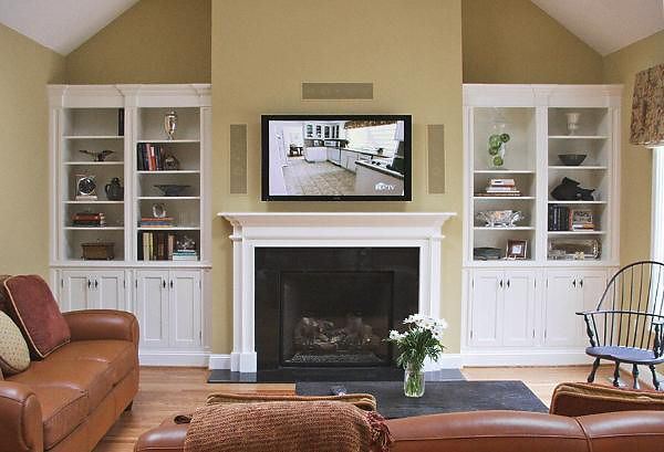I Like The Molding Around These Built In Cabinets Surrounding A Fireplace Custom Built