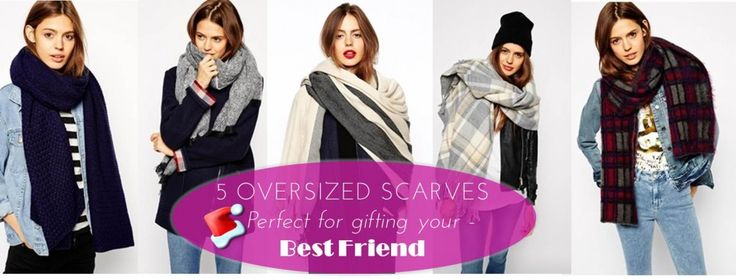 A gorg oversized scarf is a fabulush gift for your bestie #christmas #gifts #holidayshopping