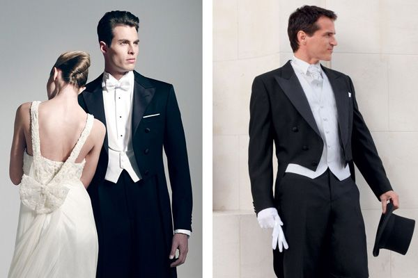 El traje de novio para boda de noche y de etiqueta rigurosa es el frac. Este tipo de traje de novio no se puede utilizar en bodas de día ni en una boda en lugar abierto ¡Es el más elegante! #bodas #elblogdemaríajosé #trajenovio #bodanoche