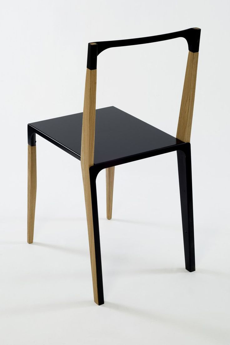 Unique wooden dining chairs - The Chair With Modern And Original Design Viewed From Rear Side Simple And Minimalist Dining Chair