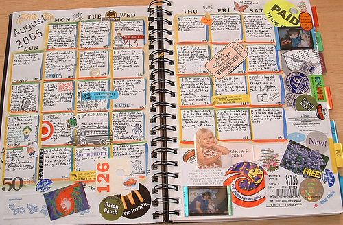 "Journal page-I have a ""Wreck This Book"" that looks like this! What a great keepsake!"