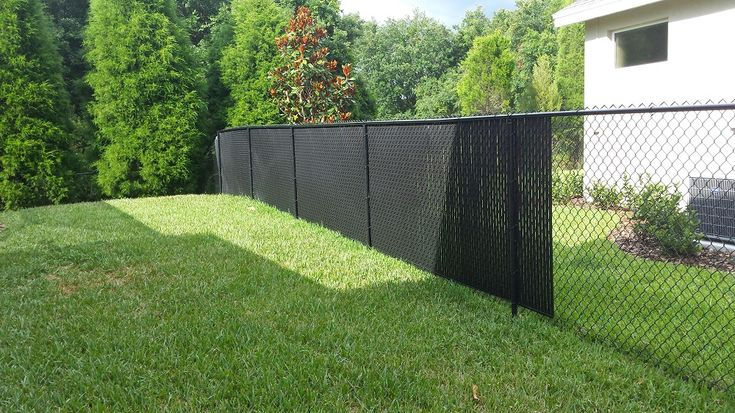 Nice Black Chain Link Fence