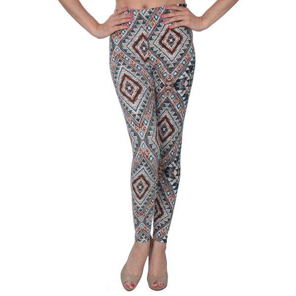 Women's Desert Aztec Printed Legging (92 NOK) ❤ liked on Polyvore featuring pants, leggings, black, patterned trousers, aztec print pants, patterned pants, aztec pattern leggings and print leggings