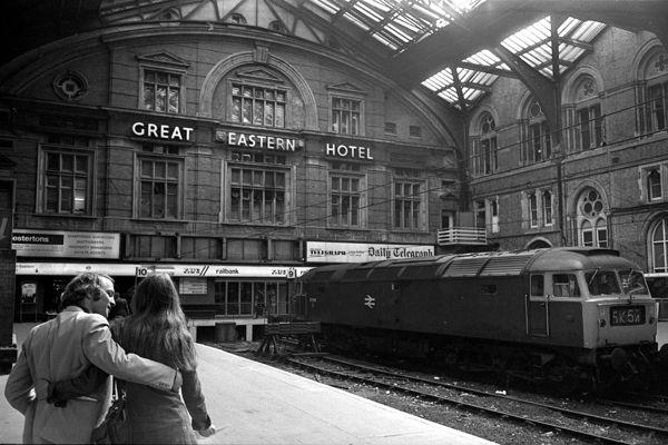Liverpool Street station, London  / Tony Bock 1977