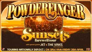 Powderfinger - Sunset - The Farewell Tour - Rod Laver Arena : Concert Halls and Sport Stadiums and Functions in Melbourne, Melbourne
