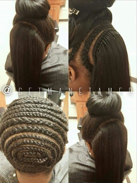 2-way straight hair crochet