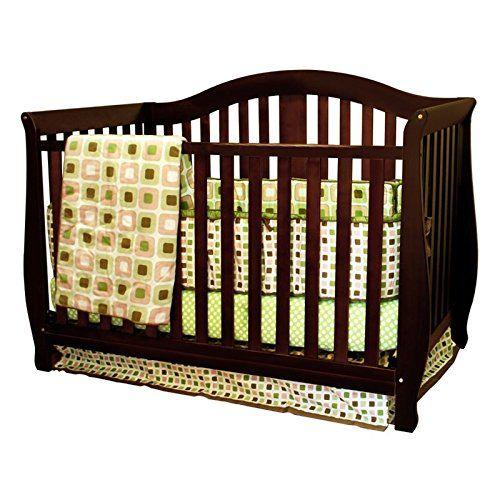 Athena AFG Desiree 4-in-1 Convertible Crib with Guardrail Espresso