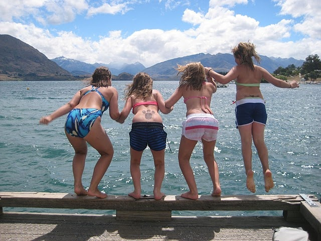 Wanaka is great for family fun times.  Spacious apartments at Edgewater work well for the family too.  Summer time in Wanaka Lake, NZ