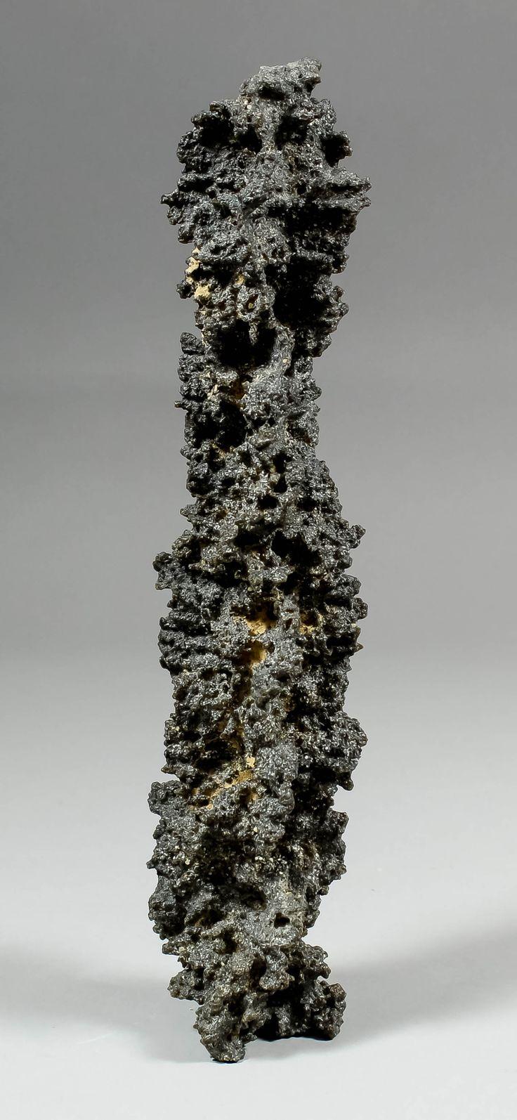 A fulgurite specimen (lightning strike into sand) from the Grand Erg de Bilma, Niger, 10ins high.