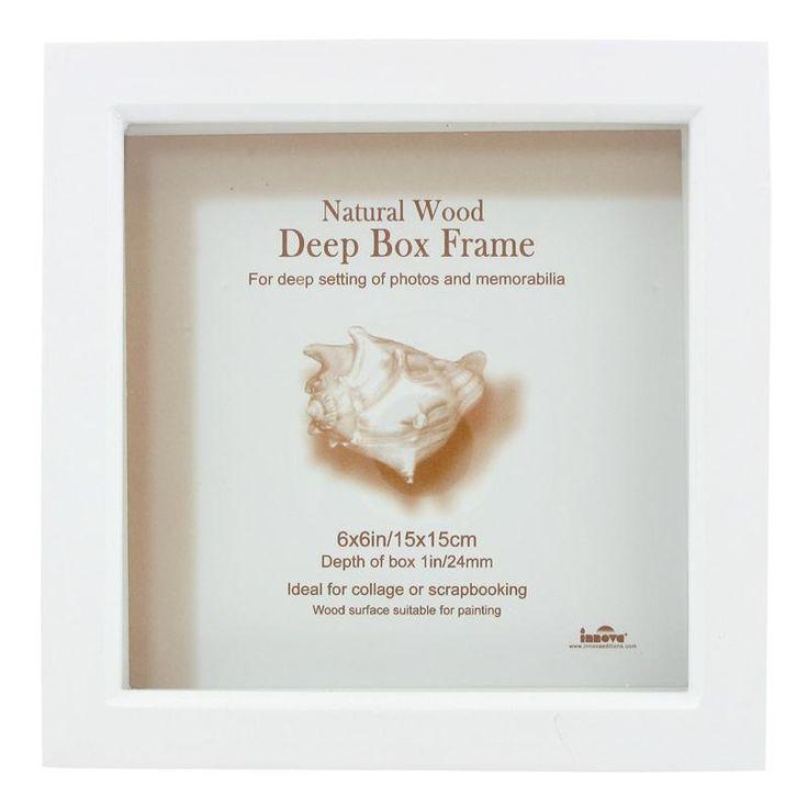 6£ hobbycraft White Deep Box Frame 15 x 15 cm
