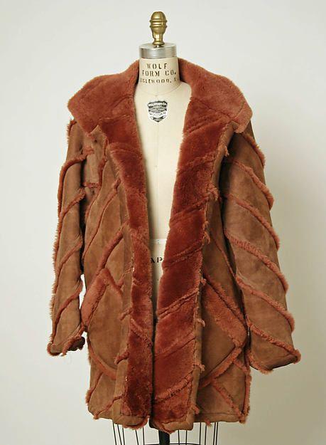 Coat, Designer: Stephen Burrows (American, born 1943) Date: 1977 Culture: American Medium: shearling.