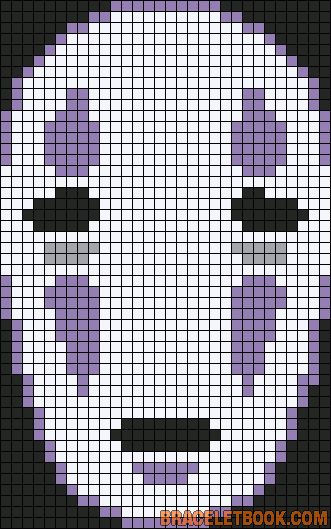 Alpha Pattern #11076 added by smokeefish No Face Spirited Away Ghibli Perler Hama