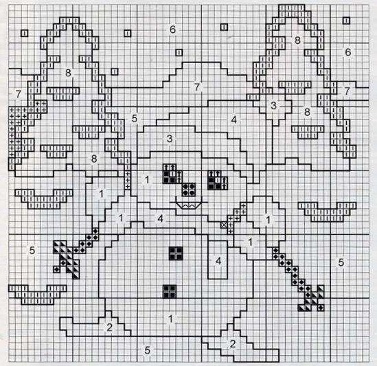 детский орнамент - снеговик