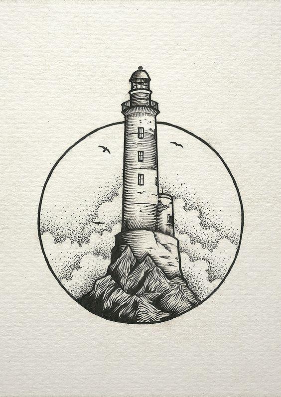#inspiration #lighthouse #light #cloud #drawing