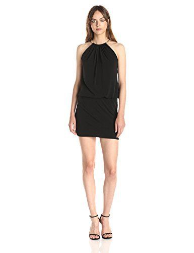 New Trending Formal Dresses: Jessica Simpson Womens Halter Blouson Necklace Dress, Black, 12. Jessica Simpson Women's Halter Blouson Necklace Dress, Black, 12  Special Offer: $98.00  100 Reviews Bungee necklace detailSleeveless halter dress featuring blouson bodice and keyhole back