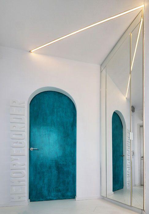 Blue door, industrial apartment