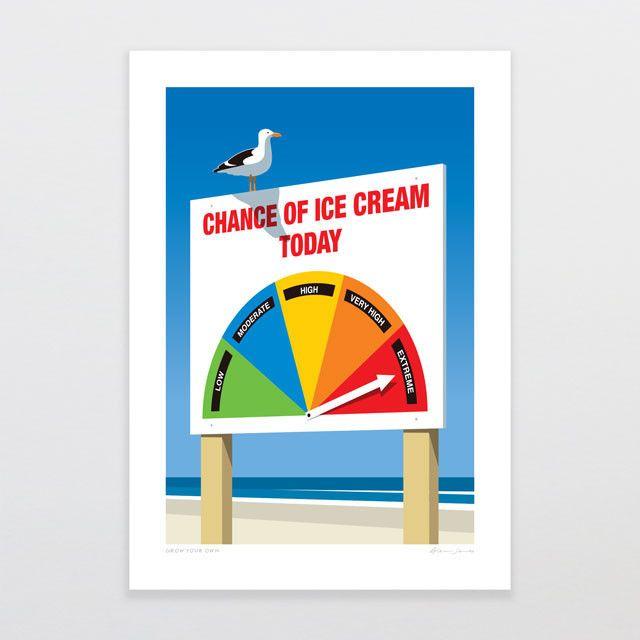 Chance Of Ice Cream | Glenn Jones Art