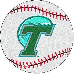 Fanmats Tulane Green Wave Baseball-Shaped Mat