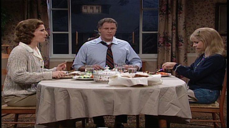 """SNL's Will Ferrell and Ana Gasteyer w/ Sarah Michelle Gellar - """"Dysfunctional Family Dinner""""  #Dodge #Stratus #Drunken #Witch"""