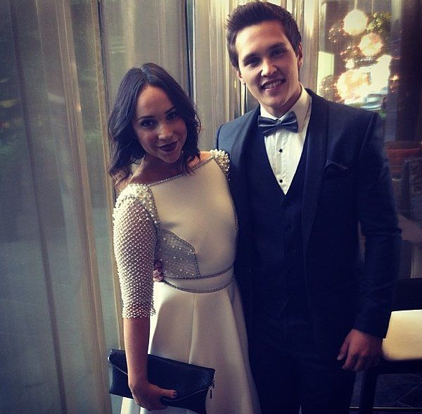 Pearl dressed! Neighbours stars Ariel Kaplan and Harley Bonner were ready to go (and looking good!). Source: Twitter user Neighbours