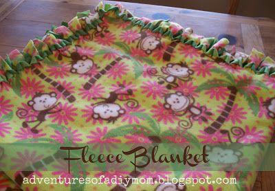 Way better than the original tie together method! Adventures of a DIY Mom: No Sew Fleece Blanket