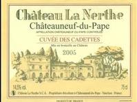 """Chateau la Nerthe Châteauneuf du Pape """"Cuvée des Cadettes"""" 2005"""