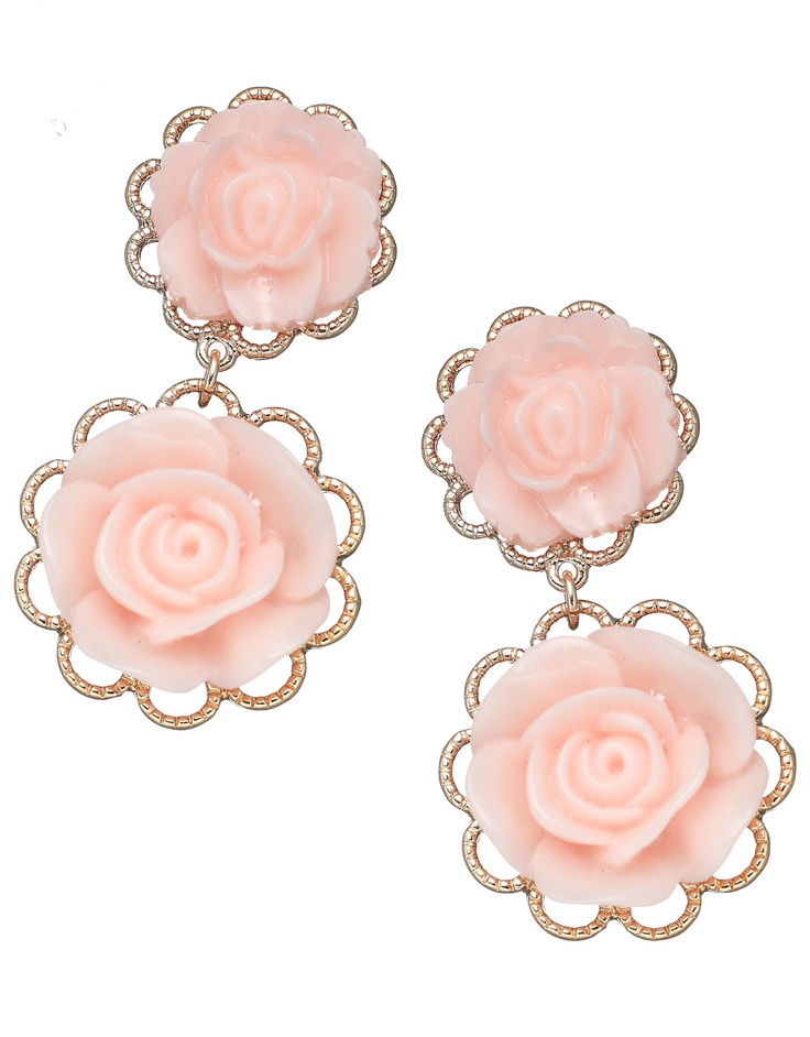Pearly Rose Drop Earrings, £6 from Accessorize