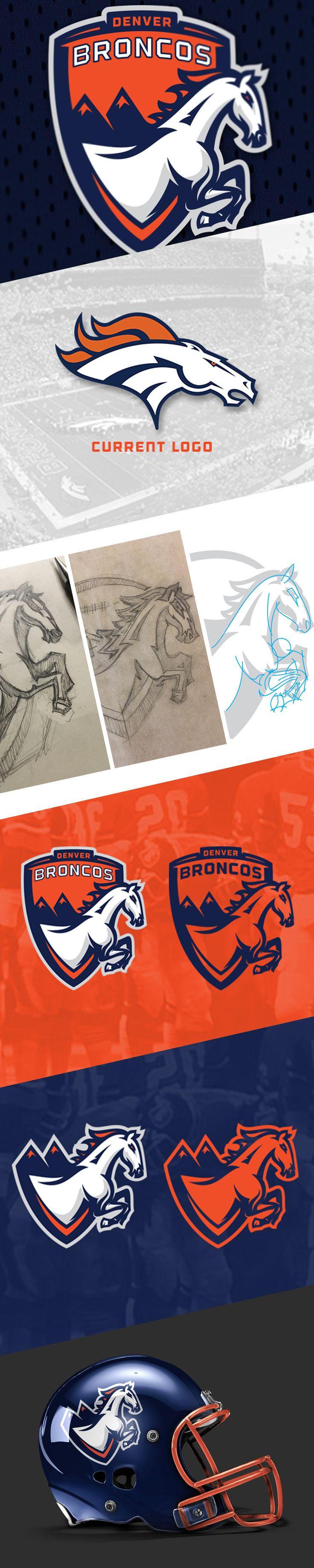 Denver Broncos Logo Remake Exploration on Behance (With