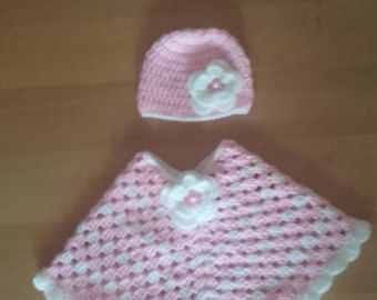baby girl poncho ,poncho and hat age 12-24 months, girl poncho, crochet baby poncho, baby girl poncho, crochet poncho, poncho crochet