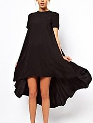 Women's Casual/Party Inelastic Short Sleeve Asymm... – USD $ 27.59