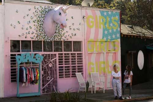 Pink, Unicorn, Vintage: 3 Words For The Dog Show in Echo ParkStores Front, Cake Shops, Girls Generation, Dogs Show, Girls Girls, Places, Shops Dreams, Echo Parks, Unicorns