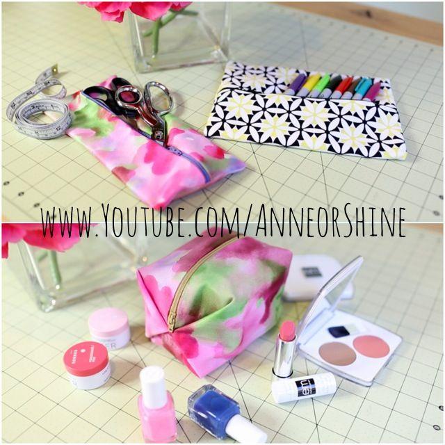 DIY makeup pouch // Pencil case