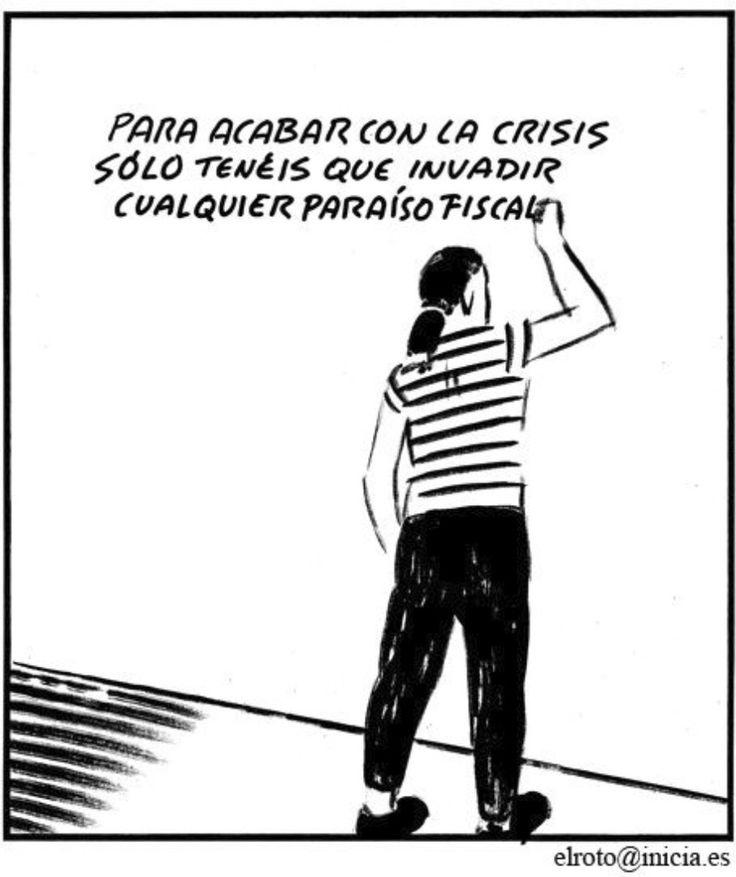 Acabar con la crisis... #Viñeta #Humor