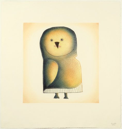 Yellow Owl (2011) by Malaija Pootoogook