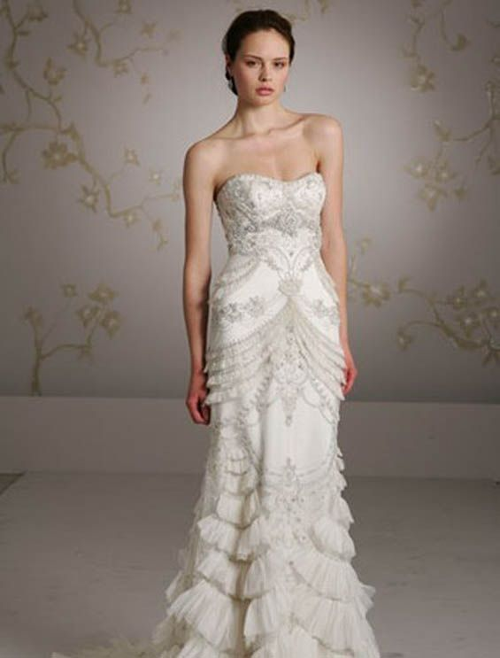 Lazaro gatsby inspired wedding dress sara designs for The great gatsby wedding dresses