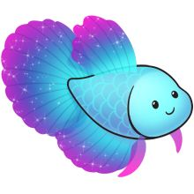 Blue and purple fish