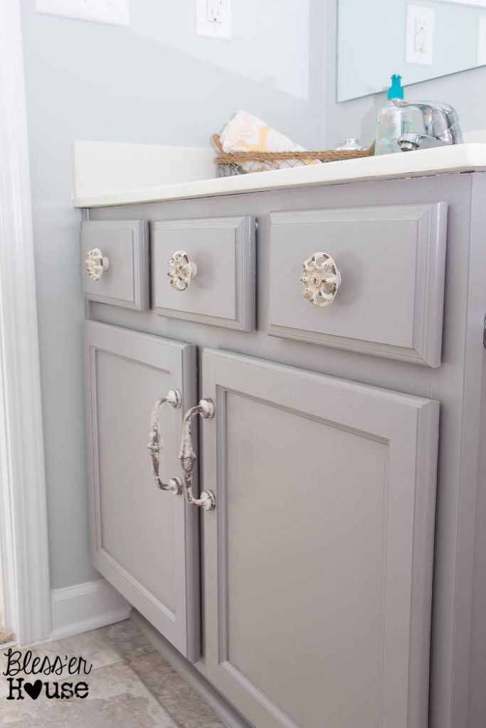 Painting Bathroom Cabinets Gray best 25+ paint bathroom cabinets ideas on pinterest | painted