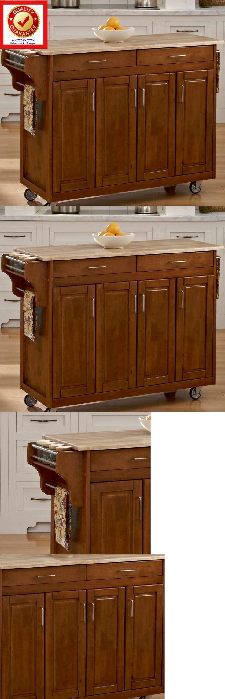 Portable kitchen islands - Kitchen Islands Kitchen Carts 115753 Kitchen Cart Portable Kitchen Island Cottage Oak Finish Built W